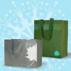 Nice graphics and nice price on these reusable shopping bags from Bag the Habit.