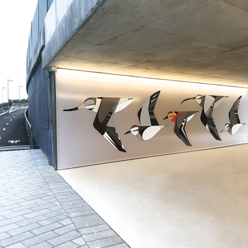Sydney Olympic Park celebrates the arrival of migratory birds with an Eggpicnic mural. (Take a look at their other fun murals around Sydney too!)