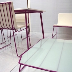 "Florence Gomez de la Fuente has designed ""Swing"" with Rosa Gimenez. A new outdoor furniture line for Oiside. Wired and colorful."