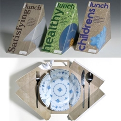 Emma Smart's D&AD ASDA Lunchboxes - I like the use of the interior of the box to create the sense of a more proper meal.