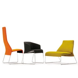 Attractive forms for Patricia Urquiola's Lazy seating collection for B&B Italia.