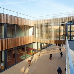 Groupe scolaire Lucie Aubrac by Dietmar Feichtinger Architectes. A public institution with a strong identity.