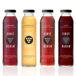 Beautiful packaging for First Blush, a varietal grape juice company, by Ferroconcrete.