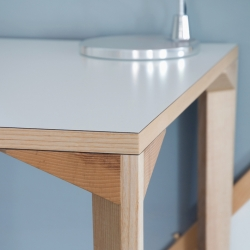 Furniture manufacturer MARK are introducing a new product range by Dylan Freeth at this year's 100% Design.  'Iso' is a range of tables and desks that marries an ultra-simple concept with great detailing and execution.