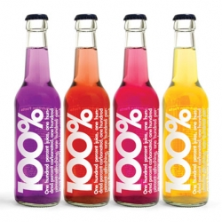 Rebranding of 100% natural juices, design firm BBDK felt that nothing said pure better than clean graphics and a direct statement so the packaging truly reflected this ideology.