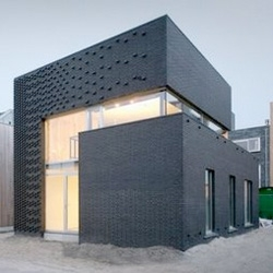 Ljburg House by Marc Koehler - I like the use of protruding blocks to create visual interest in the facade.
