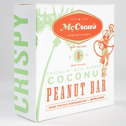 Great branding and packaging of McCraw's Confections by Craig Skinner.