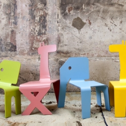Adorable animal shaped chairs for children by Israeli designer Elad Ozeri.
