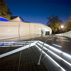 Zaha Hadid's Chanel Pavilion comes to NYC's Central Park, open until November 9th.