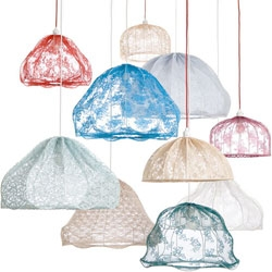 Lacy lamp shades by Kicki Möller.