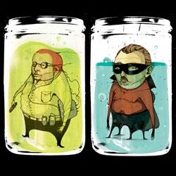 Love Juxtavision's illustrations of strange men in jars.