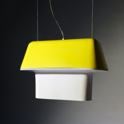 """Longo"" by portuguese designer Rodrigo Vairinhos is a suspended light with LEDS and ceramic body. Between handcraft and technology."