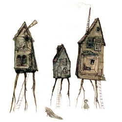 Spirit Houses, by Oliver Hunter.