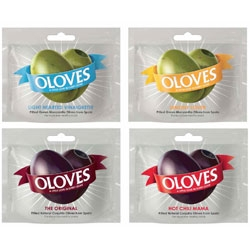 Packaging for Oloves, by Cowan - clever little design for pitted olives on the go!
