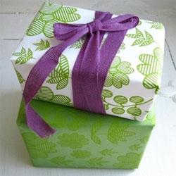 Pretty gift wrap - a collaboration between rifferaff and Black Pearl Press.