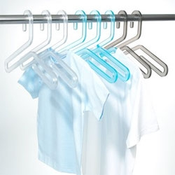 Pretty acrylic Hitofude hangers by Yasuaki Chiba.
