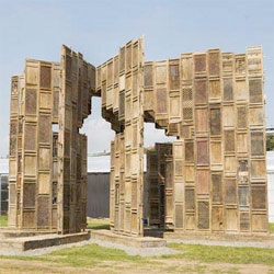 Chinese artist Ai Weiwei's Template sculpture - made from 1001 wooden doors and windows salvaged from destroyed homes from the Ming and Qing dynasties.