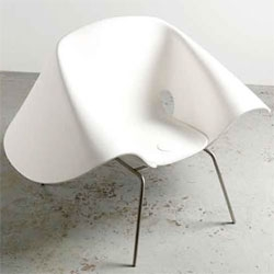 Richard Prince has forayed into furniture design with a show at Paris' Galerie Patrick Seguin that features his Nurse Hat Chair.