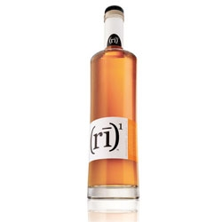 Love (rī) 1 whiskey's sleek and slightly concave bottle design by Doe Anderson Ad Agency.