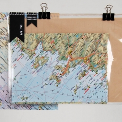 London based Design graduate Sophie Williams created these awesome recycled letter sets using donated vintage maps from the Natural History Museum.
