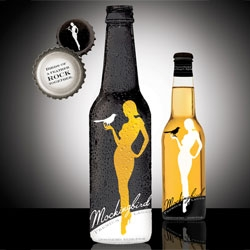 Beautiful concept design for Mockingbird Lager by Samantha Wiley. I like how the bottle is opaque, except for the figure of the woman - nice use of negative space. I also love the fortune cookie-esque messages on the inside of the bottle caps.