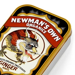 Love these Newman's Own mint tins by Moxie Sozo - inspired by retro Italian candy packaging and fruit crate labels.