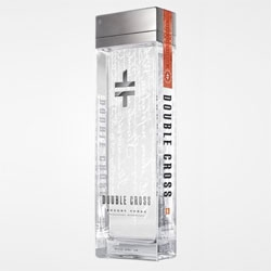Great attention to detail in the bottle for Slovakian Double Cross Vodka - clean, rectangular lines with no seams, screen printed verses of old-world Slovakian poetry, and an individually-numbered tamper seal.