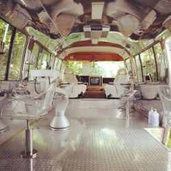 The Hairstream in New York is a mobile salon created from a refurbished Airstream.