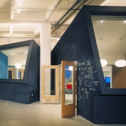 Kirshenbaum Bond & Partners West Office in San Francisco by Jensen Architects. A creative working place where walls are like blackboards to write and design new ideas and concepts.