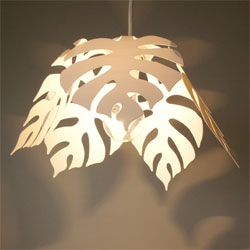 The Monstera Pendant by Flame, must cast some great shadows...