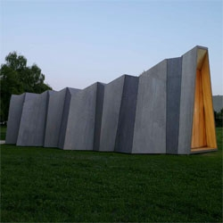 The Chapel of St. Loup by Danilo Mondada in Pompaples, Switzerland - love the accordion form.