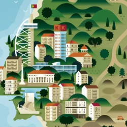 Impressive map illustrations by the Belgian based design studio KHUAN + KTRON.