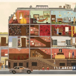 Best Wes Anderson fan art from around the internet. Including clothes & several great renditions of Bill Murray.