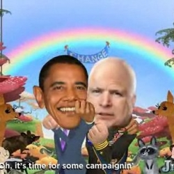Latest from JibJab - Time For Some Campaiginin' -  the latest political satire cartoon starring Barack Obama and John McCain... and YOU! set to the tune of Bob Dylan's Times They Are A-Changin'