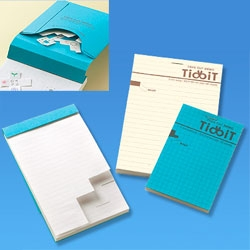Cool Tidbit notebooks - with little perforated sections that you can tear out.
