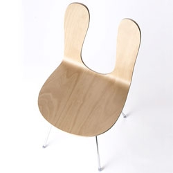 Nextmurani released a wider version SANAA's chair recently, which is made of translucent white beechwood.