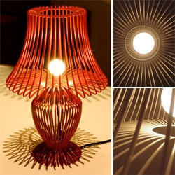 Wireframe lamps designed by Ziglam & Brook for Deadgood.