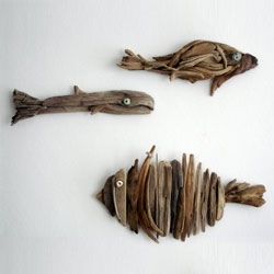Driftwood sculptures by Yalos Alanya.