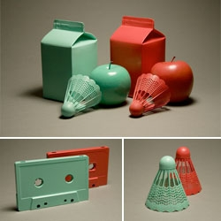 "Love these ""still lifes in the style of colour-shifted 3-dimensional images"" by A Nice Idea Every Day."
