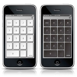 Turn your iPhone into a numeric keypad for your notebook - NumberKey, by Balmuda Design.