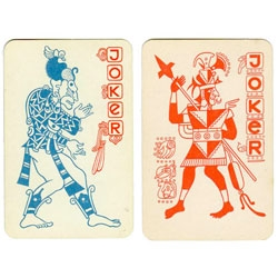 Vintage Mayan playing cards designed by the Soviet State.