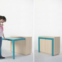 A cabinet with a built-in table by Attua Aparicio Torinos.