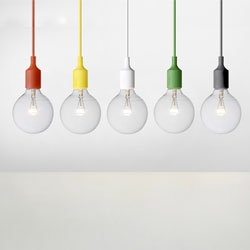 Love the E27 Lamp by TAF Arkitektkontor for Muuto. A set of these would be great over a dining room table...