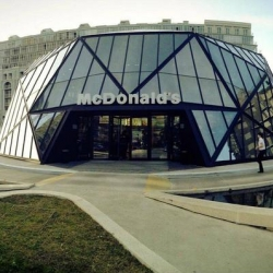 Check out this deluxe McDonald's in Batumi, Georgia!