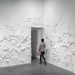 Matt W. Moore new solo-exhibition 'SHADOVVS' at 886 Geary Gallery in San Francisco.