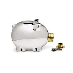 Pork Knox is on of the cutest and innovative piggy banks ever. The snout is a combination lock and the only way to open this little piggy.
