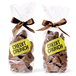 Cute and timely packaging idea by Purpose for Selfridges' Credit Crunch chocolate.