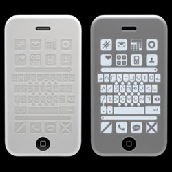 Bruno Fosi tackles an iPhone issue - the exclusion of visually impaired users. His Tactile Silicon Case for the 3G works with an app that incorporates functions like text to speech. The case is engraved with buttons that correspond to a modified home screen.