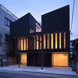 The House TTN is an interesting project by Teruo Miyahara - I love the louvered steel panels that open up the second floor to the street.