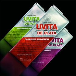 New boxed wine packaging for Uvita de Plata by Tridimage.